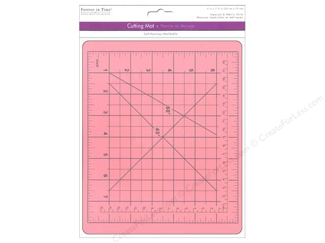 "Multicraft Tools Cutting Mat 7.5""x 9"" Self Healing Pink"
