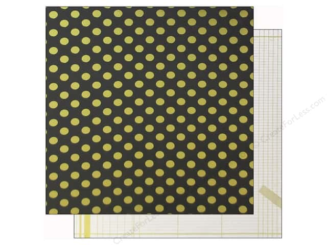 Crate Paper 12 x 12 in. Paper Maggie Open Book Dots Gold (15 sheets)