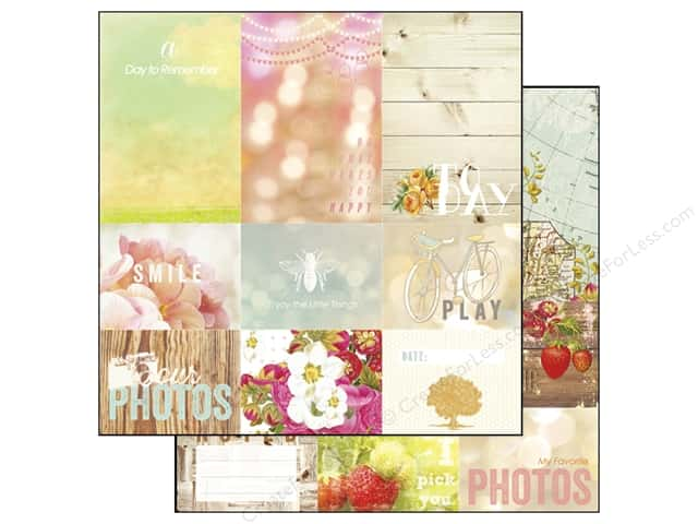 Webster's Pages 12 x 12 in. Paper Strawberry Fields Storyteller Sheet 2 (25 sheets)