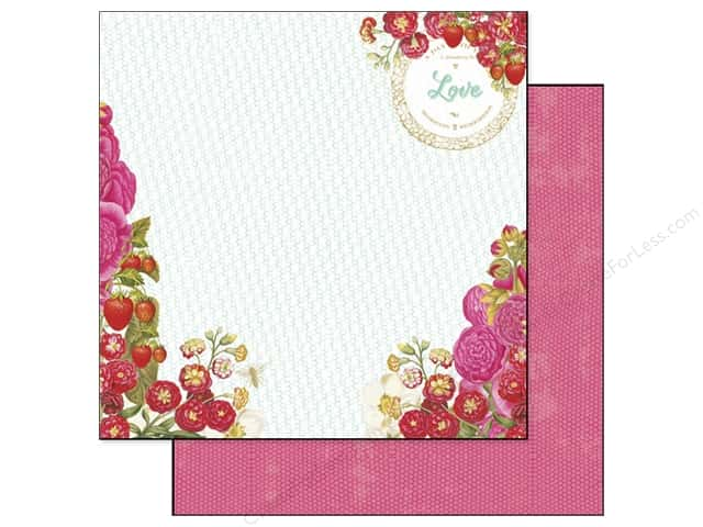 Webster's Pages 12 x 12 in. Paper Strawberry Fields Strawberry Patch (25 sheets)