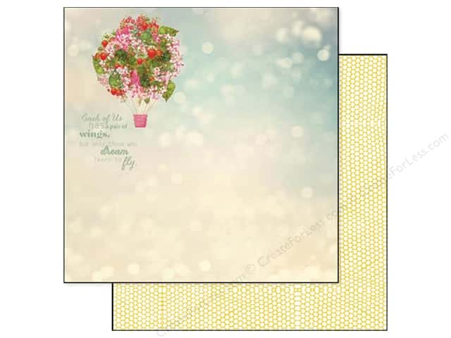 Webster's Pages 12 x 12 in. Paper Strawberry Fields Balloon Bouquet (25 sheets)