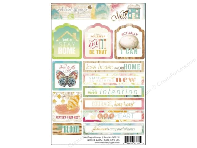 Webster's Pages Sticker Nest Tag & Prompt