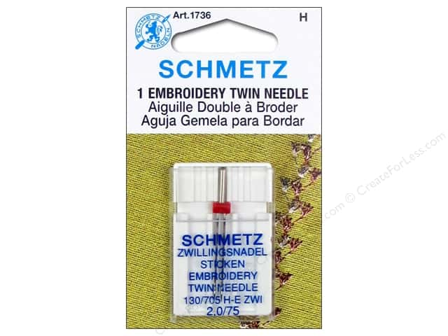 Schmetz Machine Embroidery Needle Twin Size 75/2.0