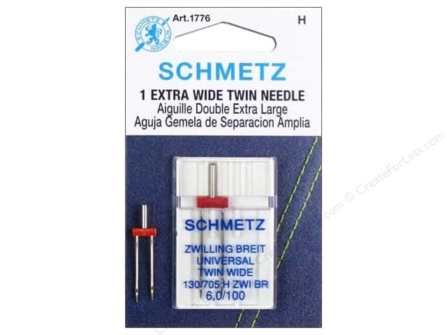 Schmetz Universal Needle Twin Extra Wide Size 100/6.0 1 pc