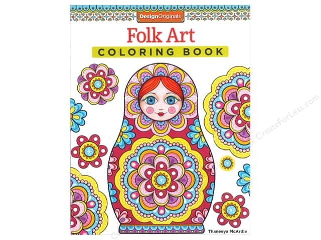 Design Originals Folk Art Coloring Book