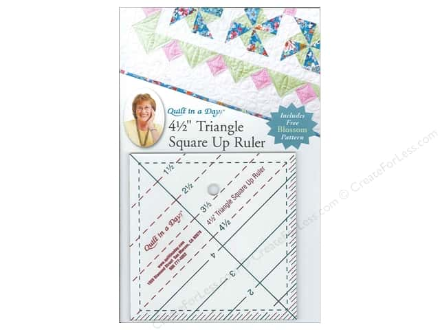 "Quilt In A Day Ruler 4.5"" Triangle Square Up"
