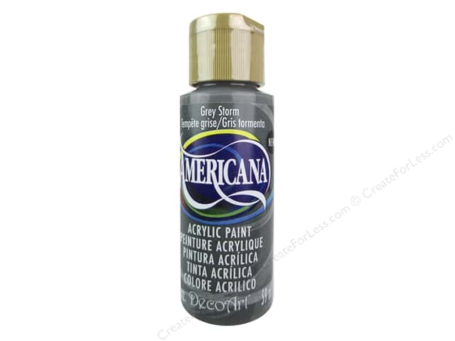 DecoArt Americana Acrylic Paint 2 oz. #328 Grey Storm