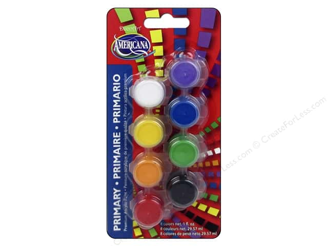 DecoArt Americana Paint Pot 8-Color Primary