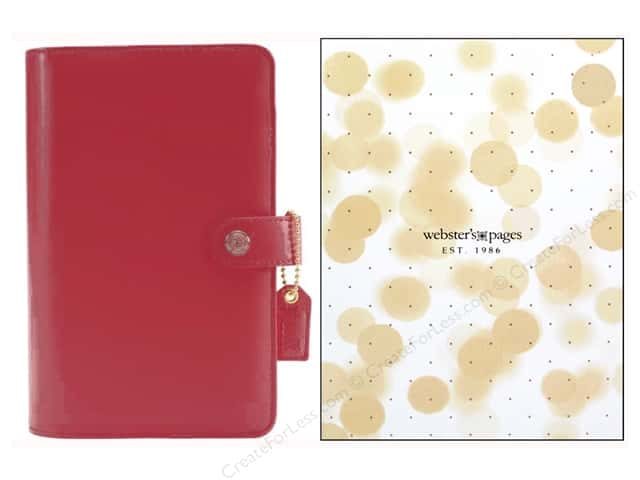 Webster's Pages Color Crush Personal Planner Binder Dark Pink