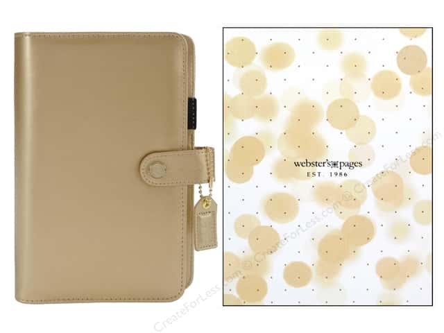 Webster's Pages Color Crush Personal Planner Binder Gold