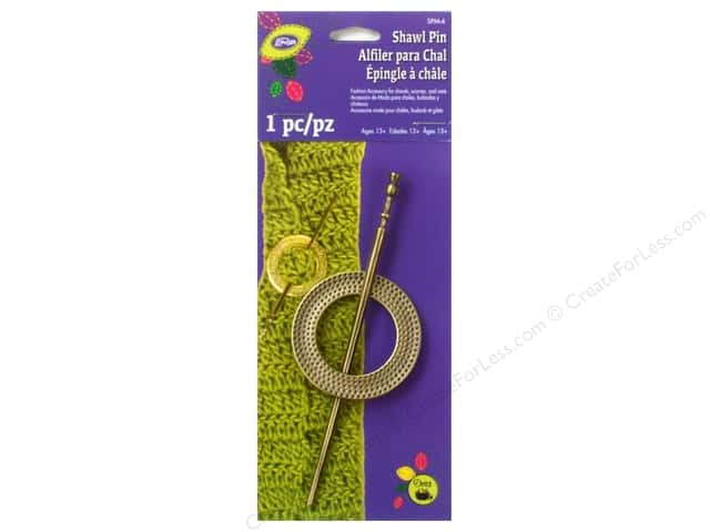 LoRan /Dritz Shawl Pin Set Metal Round Brass