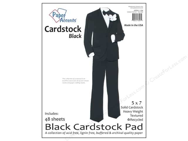 Paper Accents 5 x 7 in. Cardstock Pad 48 pc. Black