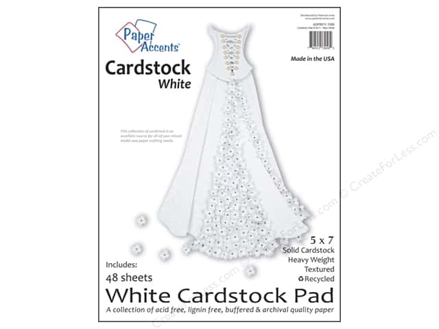 Paper Accents 5 x 7 in. Cardstock Pad 48 pc. White