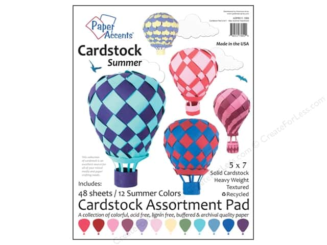 Paper Accents 5 x 7 in. Cardstock Pad 48 pc. Summer