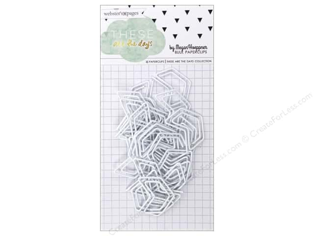 Webster's Pages Megan Hoeppner These Are The Days Collection Paperclip White