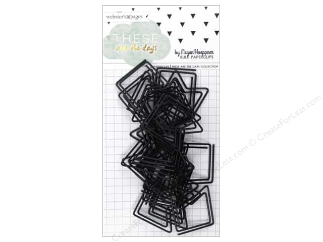 Webster's Pages Megan Hoeppner These Are The Days Collection Paperclip Black