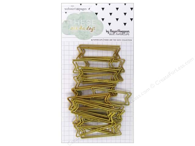 Webster's Pages Megan Hoeppner These Are The Days Collection Paperclip Gold