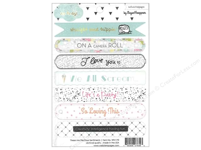 Webster's Pages Sticker Megan Hoeppner These Are The Days Sentiment