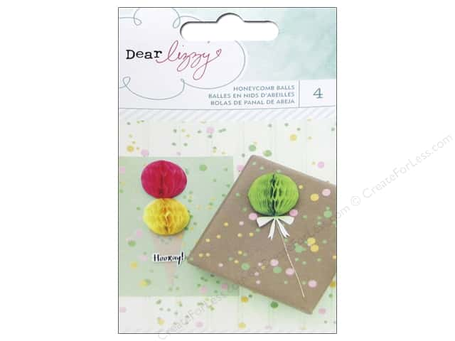 American Crafts Honeycomb Balls Dear Lizzy Fine & Dandy