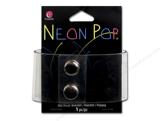 Cousin Neon Pop Collection Bracelet With /Snap Clear