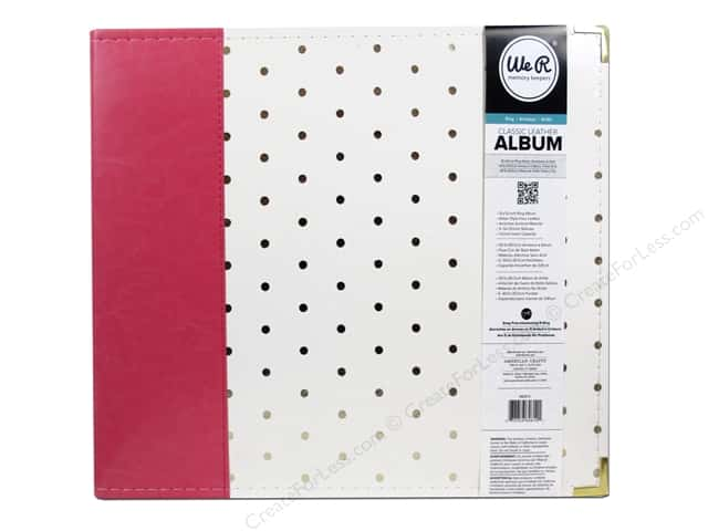 We R Memory Keepers 3-Ring Album 12 x 12 in. Strawberry with Gold Dots