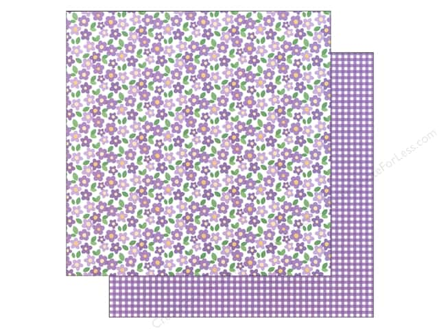 American Crafts 12 x 12 in. Paper Basics Floral Purple (12 sheets)