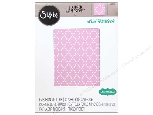 Sizzix Textured Impressions Embossing Folders 1 pc. Quilted Diamonds