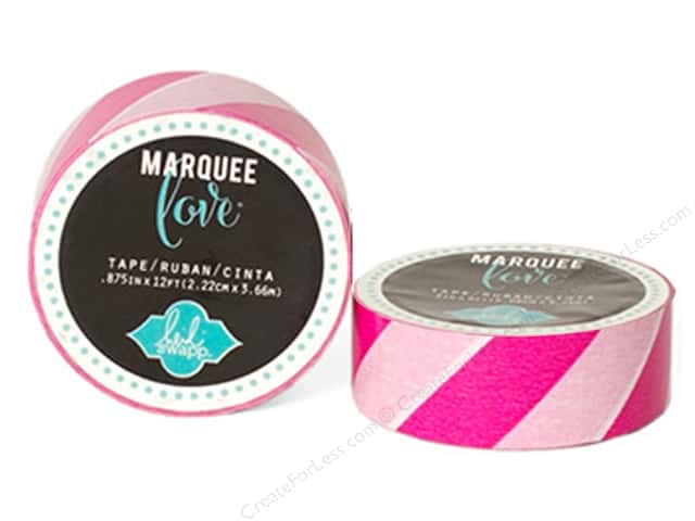 Heidi Swapp Marquee Love Washi Tape 7/8 in. Stripe Pink & White