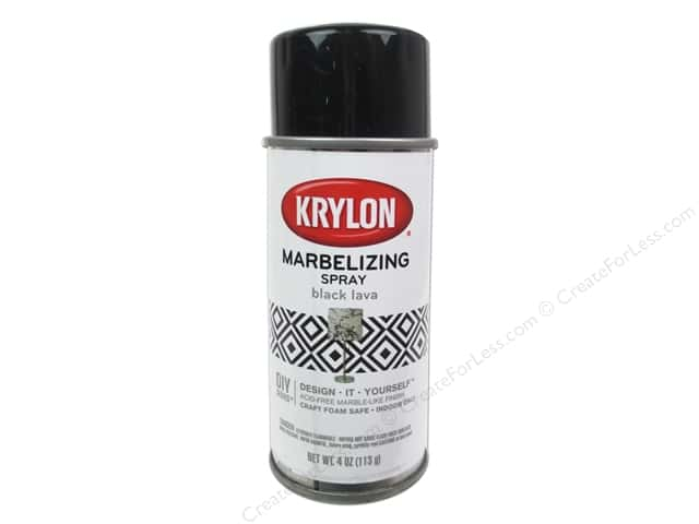 Krylon Marbelizing Spray 4 oz. Black Lava