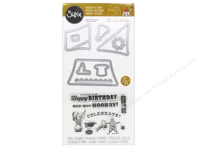 Sizzix Framelits Dies With Stamps Big Top by Brenda Walton