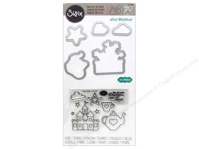 Sizzix Framelits Die Set 5PK w/Stamps Princess #2 by Lori Whitlock