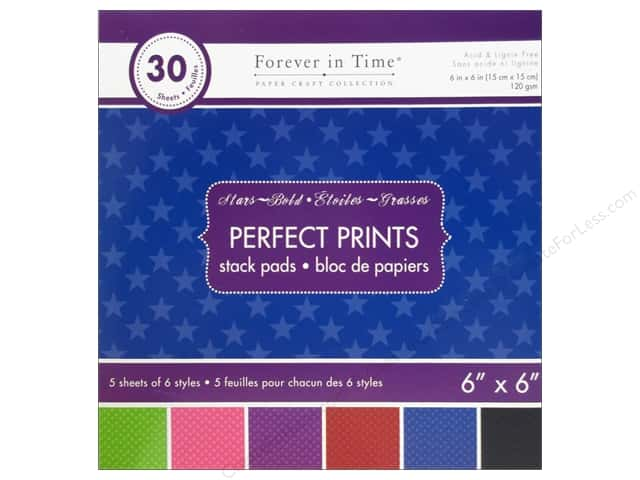 "Multicraft Stack Pad 6""x 6"" Perfect Prints Stars Bold"