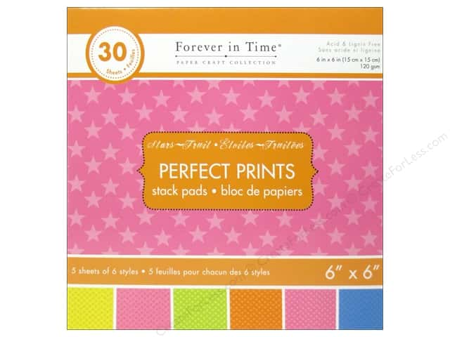 "Multicraft Stack Pad 6""x 6"" Perfect Prints Star Fruit"