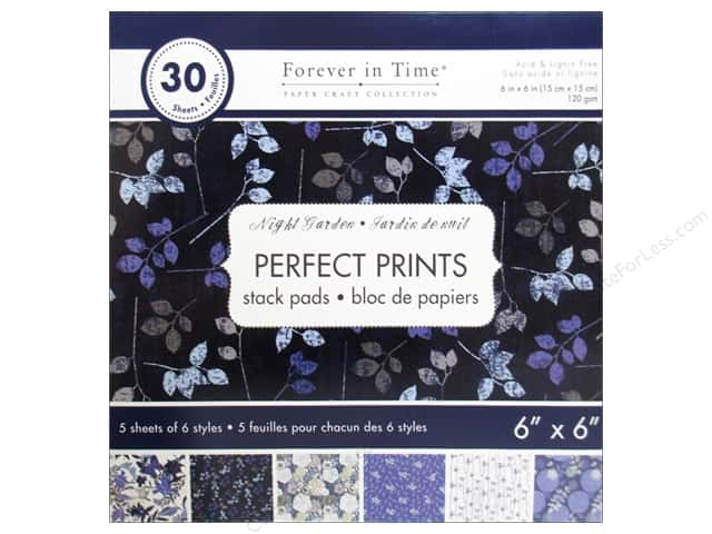"Multicraft Stack Pad 6""x 6"" Perfect Prints Night Garden"