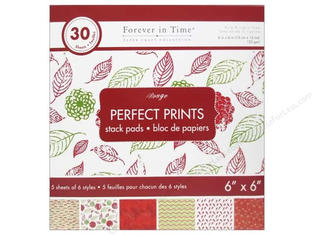 """Multicraft Stack Pad 6""""x 6"""" Perfect Prints Rouge"""