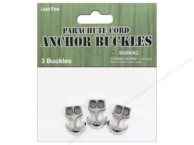 Pepperell Parachute Cord Accessories Anchor Buckle 3pc