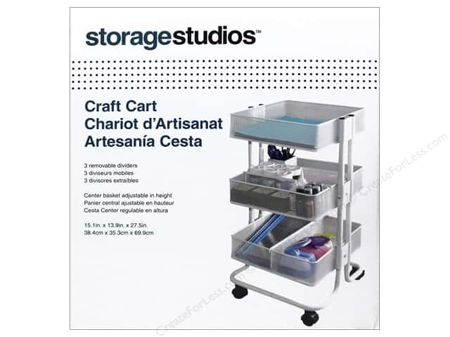 Storage Studios Craft Cart with Dividers White