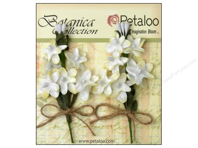 Petaloo Botanica Collection Velvet Lilacs White