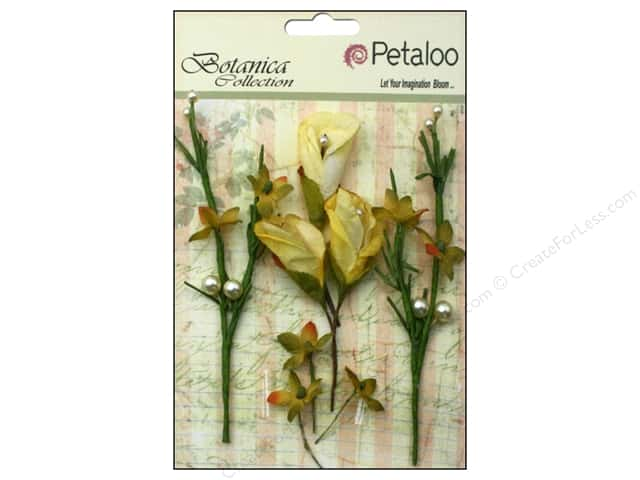 Petaloo Botanica Collection Calla Lilies & Berries Soft Yellow