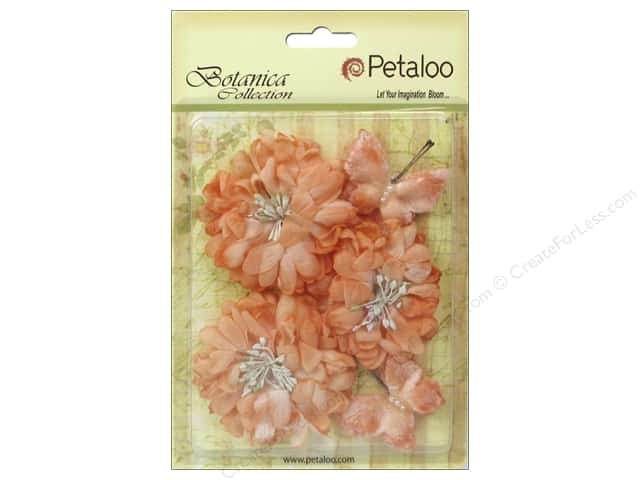 Petaloo Botanica Collection Mums & Butterflies Peach
