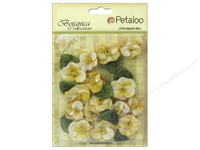 Petaloo Botanica Collection Velvet Pansies Amber
