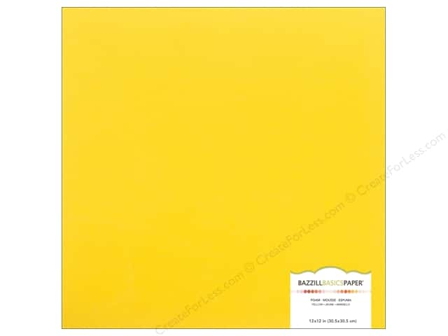 Bazzill Self Adhesive Foam Sheets 12 x 12 in. Yellow (15 pieces)
