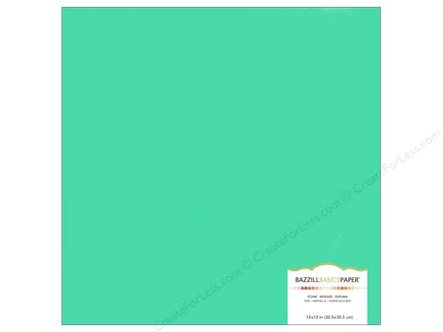 Bazzill Self Adhesive Foam Sheets 12 x 12 in. Teal (15 pieces)