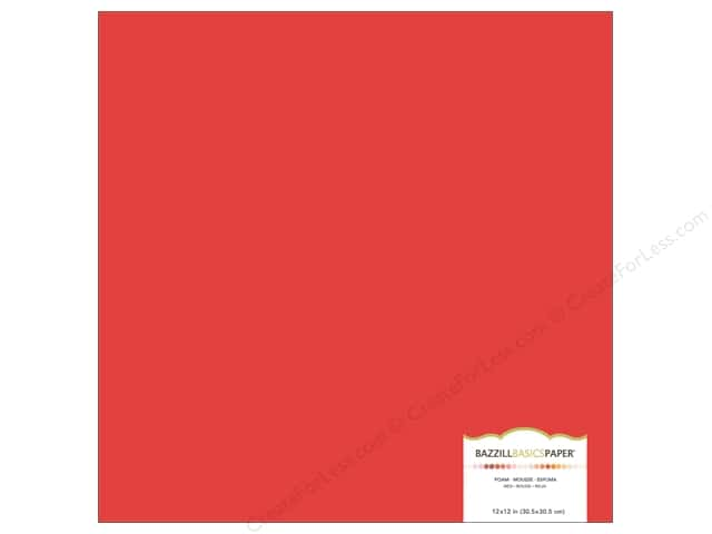 Bazzill Self Adhesive Foam Sheets 12 x 12 in. Red (15 pieces)