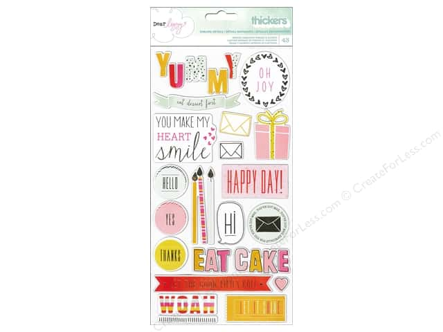 American Crafts Thicker Stickers Dear Lizzy Fine & Dandy Phrases & Accents