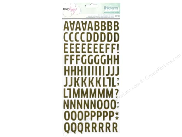 American Crafts Thickers Alphabet Stickers Dear Lizzy Fine & Dandy Woodland Gold