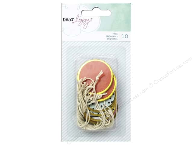 American Crafts Tags Dear Lizzy Fine & Dandy Rimmed Gold