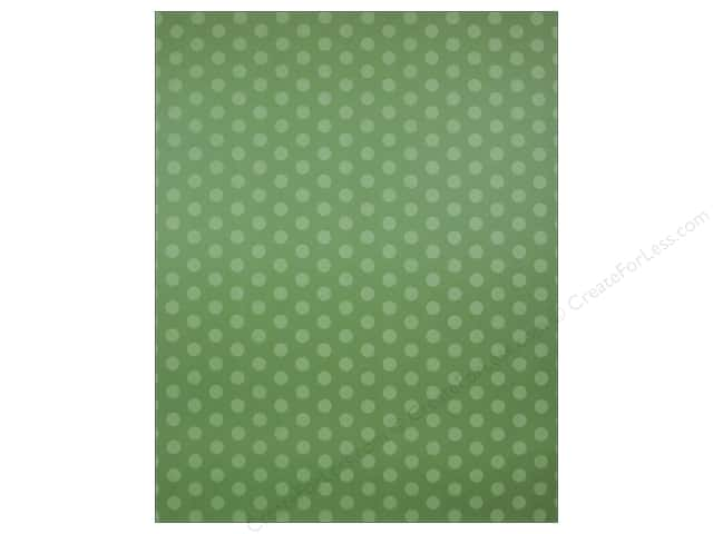 We R Memory Keepers Poster Board 22 x 28 in. Dots Green