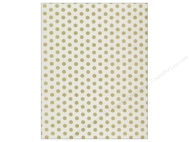 We R Memory Keepers Poster Board 22 x 28 in. Foil Dots Gold