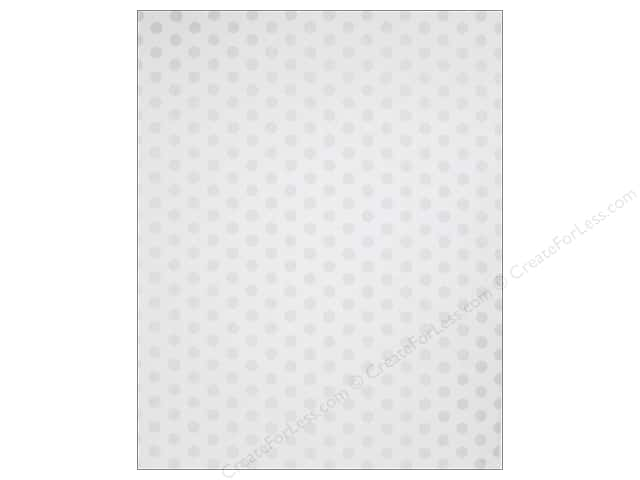 We R Memory Keepers Poster Board 22 x 28 in. Dots White